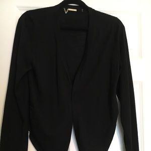 Tahari light weight black cardigan